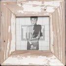 Quadratischer Altholz-Fotorahmen