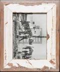Vintage-Bilderrahmen aus altem Holz für die Bildgröße 15 x 20 cm