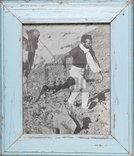 Vintage-Fotorahmen aus recyceltem Holz für Fotos 20 x 25 cm