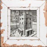 Quadratischer Altholz-Fotorahmen für quadratische 21 x 21 cm