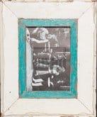 Wechselrahmen aus Altholz für Fotos DIN A5