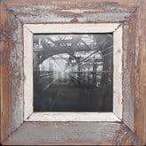 Quadratischer Altholz-Bilderrahmen für quadratische 21 x 21 cm
