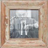 Quadratischer Altholz-Fotorahmen aus Kapstadt