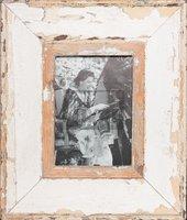 Wechselrahmen aus alten, breiten Holzleisten für Fotos DIN A5
