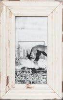 Panorama-Bilderrahmen aus recyceltem Holz für Panoramen 1:2
