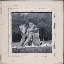Quadratischer Altholz-Bilderrahmen für quadratische 29,7 x 29,7 cm