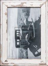 Vintage-Fotorahmen aus recyceltem Holz für 25 x 38 cm große Fotos