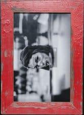 Roter Holzrahmen für dein Lieblingsfoto
