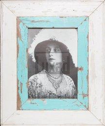 Wechselrahmen aus alten, breiten Holzleisten für ca. 23 x 32 cm Fotos