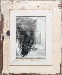 Vintage-Bilderrahmen mit breitem Holzrand