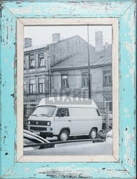 Türkiser Holzbilderrahmen für Fotos DIN A3