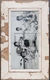 Wechselrahmen für Panoramen aus Altholz für Fotos ca. 21 x 42 cm