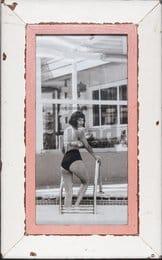 Panorama-Bilderrahmen aus altem Holz für Fotos ca. 21 x 42 cm