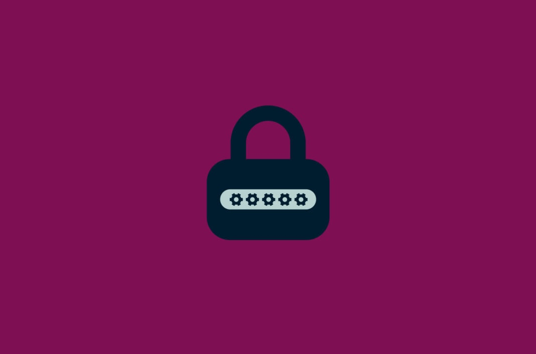 Lock with gear symbols as password.