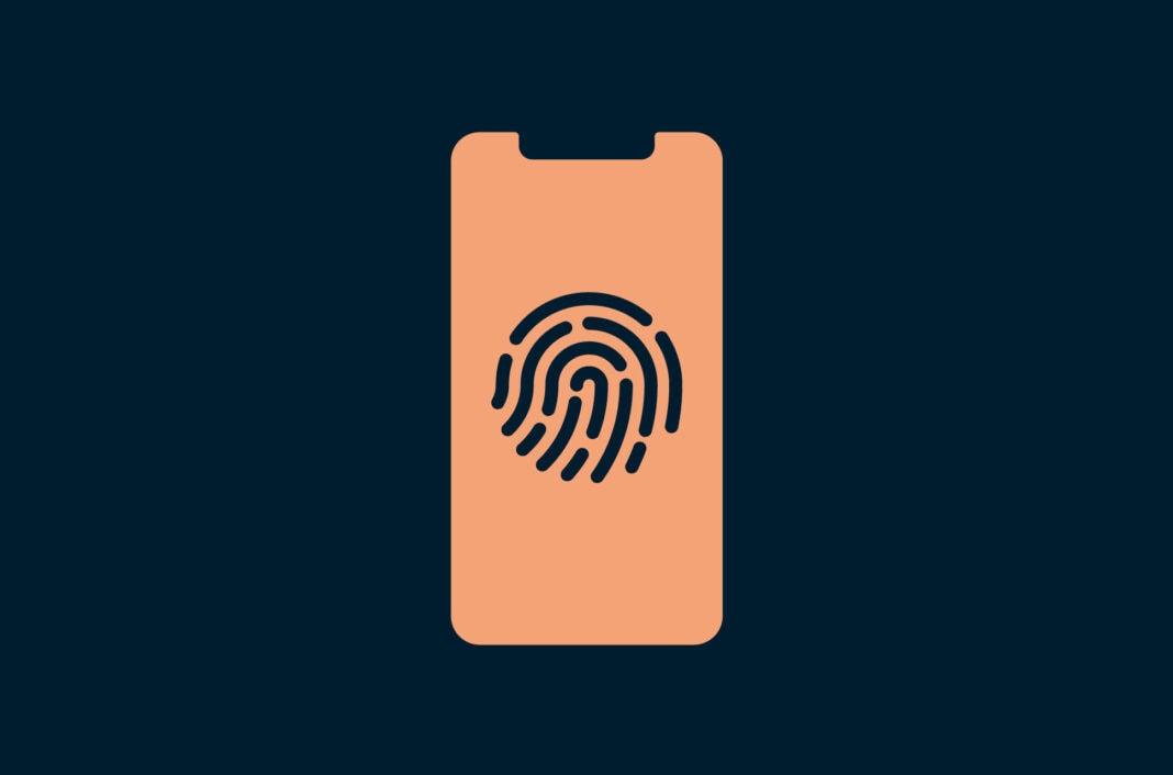 A phone with a fingerprint.