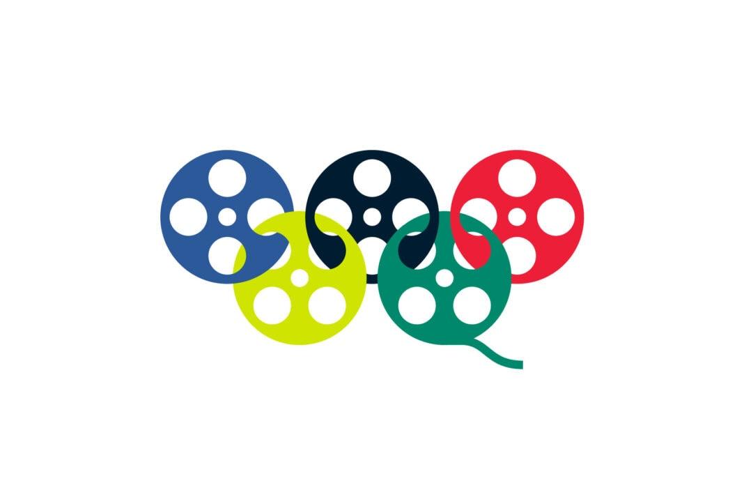Film reels as Olympic rings.