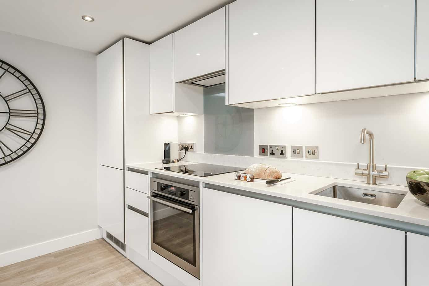 Tailored Stays Victoria Road Serviced Apartment provide a fully equip kitchen with all you need to rustle up a meal as good as if you were in your own home.