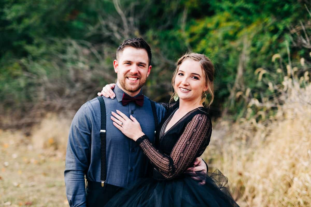 Grafton Illinois Engagement Session, Dark and Moody Photography Style