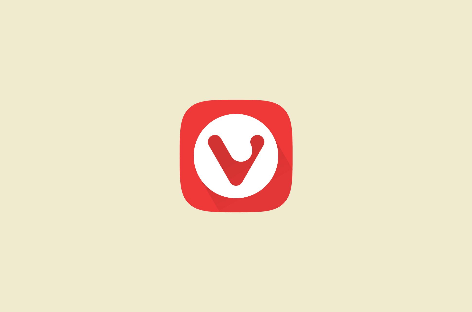 Vivaldi browser logo.