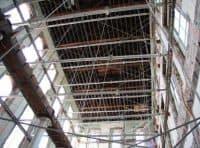 Switzler Hall Slideshow image of structural support system used for Switzler Hall Renovation, University of Missouri.
