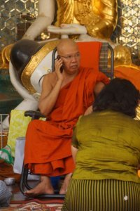 Monk at Shwedagon Pagoda, Myanmar