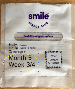 Smile Direct Club aligner package
