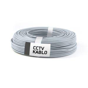 100 Metrelik Top Halinde 2 + 1 CCTV Kablo (0,50 mm)