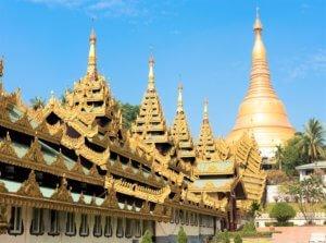 Shwedagon covered entrance staircase