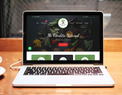 Sitio web Mi Tiendita Natural