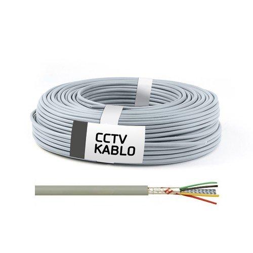 100 Metrelik Top Halinde 4 + 1 CCTV Kablo (0,22 mm) 1