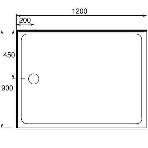 Corner Shower 1200x900 Complete