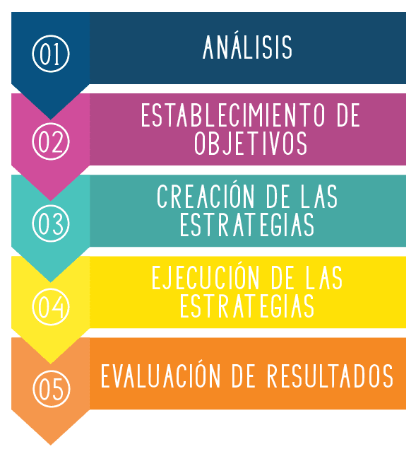 esquema fases plan de marketing digital Duoncreative