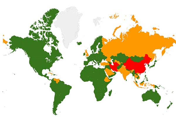 A map of global censorship
