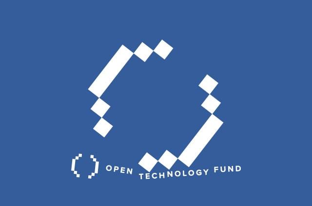 A broken Open Technology Fund logo.
