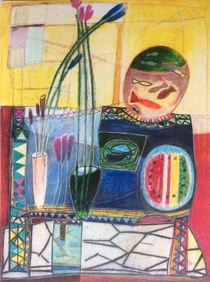 Kaaml - Untitle 2 (2020) african painting momaa