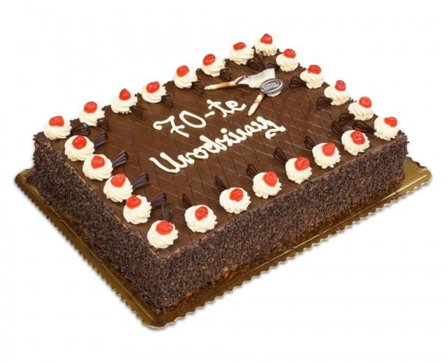 prostokątny torty na 70-te urodziny