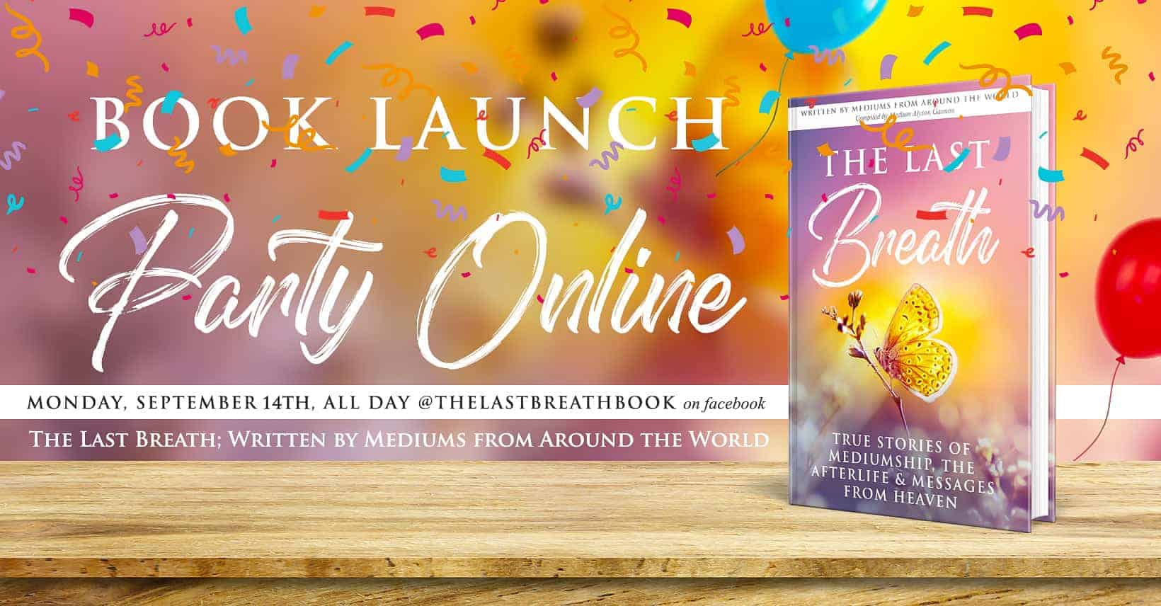The Last Breath –  Book Launch Party!  Live Readings all day!