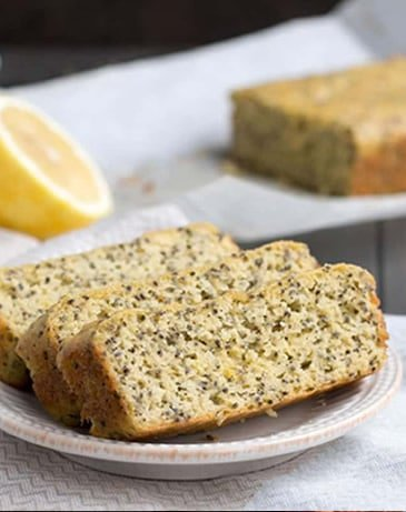 Lemon Almond Chia Bread