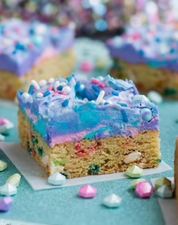 Mermaid Birthday Sugar Cookie Bars
