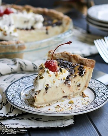 Chocolate Chip Cannoli Pie