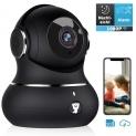 Amazon Littlelf Überwachungskamera mit WLAN + 1080P HD mit 360°Schwenkbarem Baby Monitor uvm