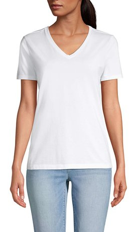 Lands' End relaxed v-neck t-shirt | 40plusstyle.com