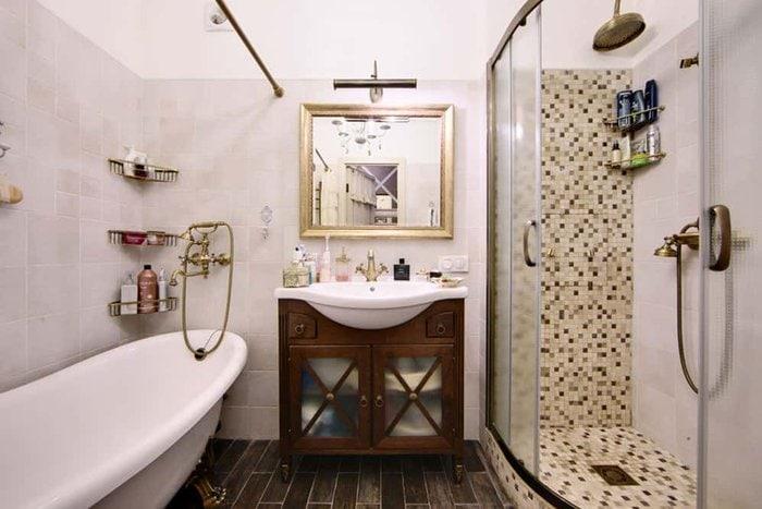 дизайн ванны в стиле кантри