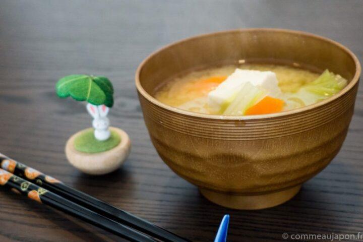 Soupe Miso aux légumes