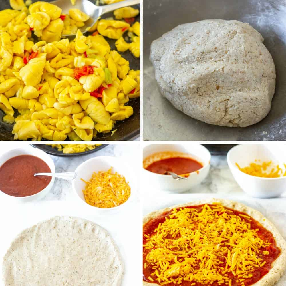 Jamaican Ackee Pizza ingredients