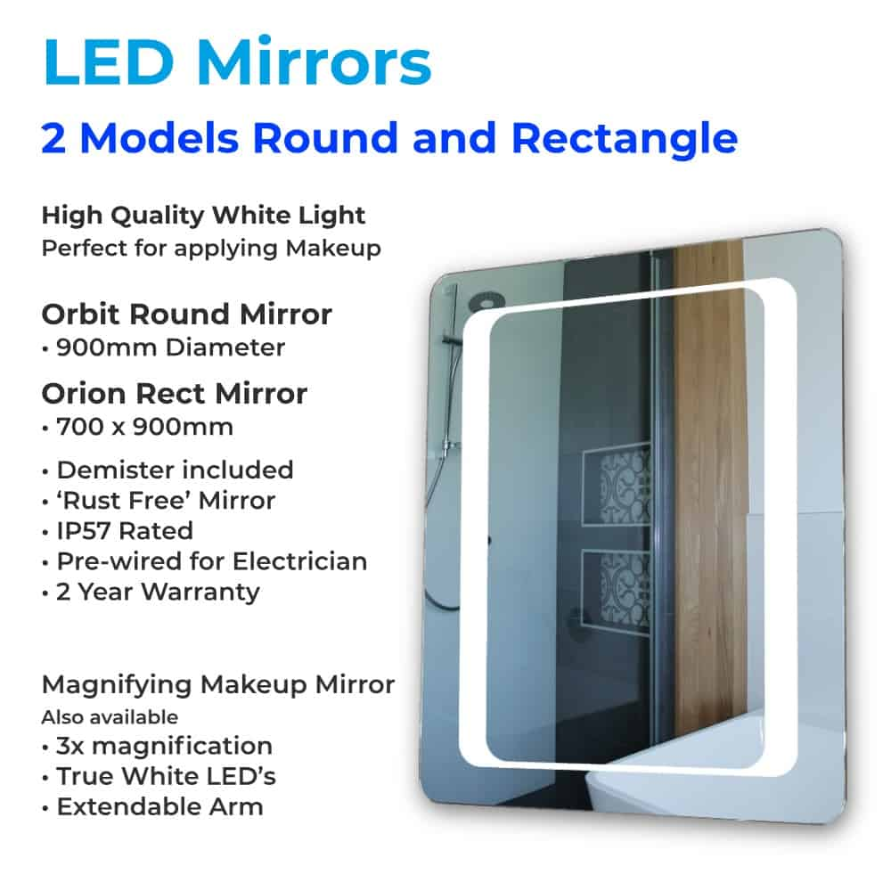 LED Mirrors - Henry Brooks