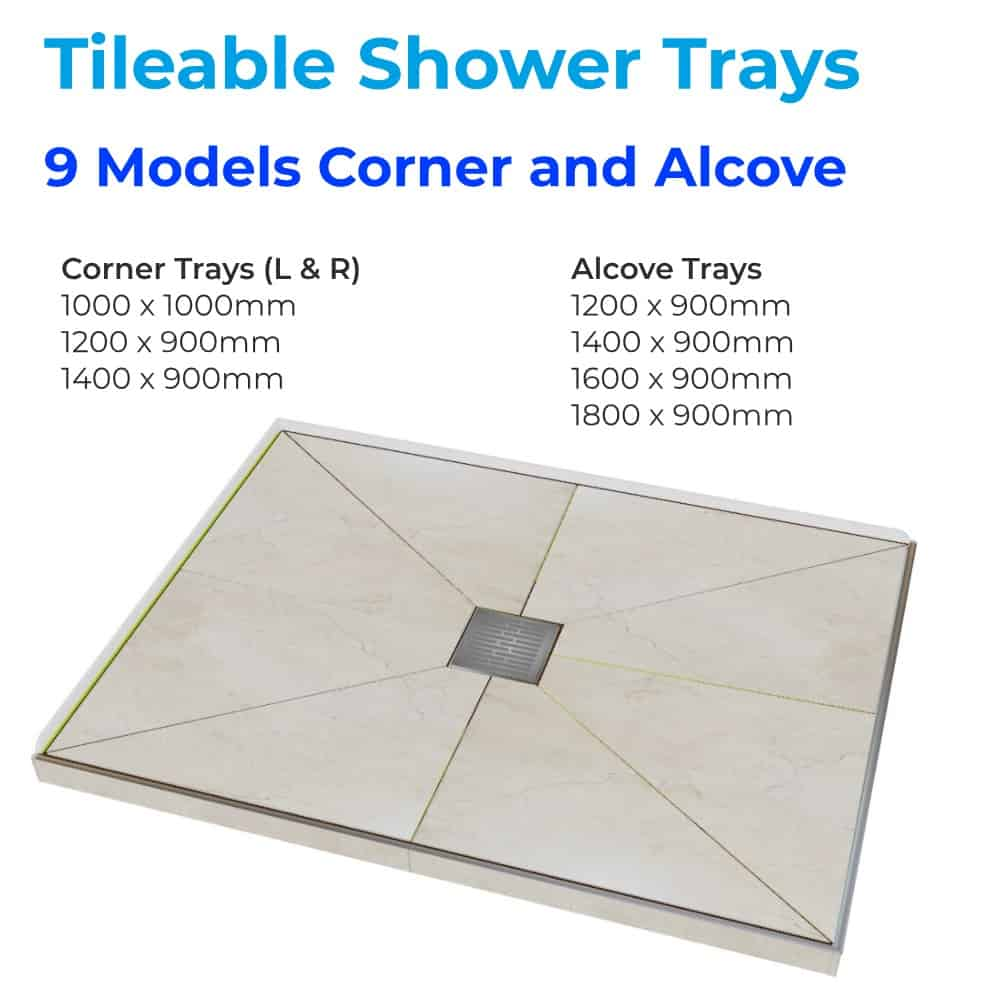Tileable Shower tray Didosi Henry Brooks Bathrooms