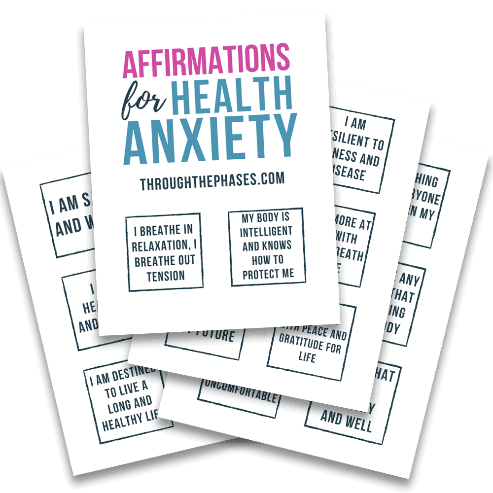 affirmations for health anxiety printable cards