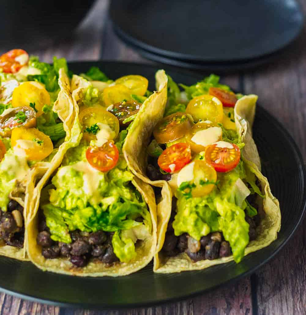Vegan Black Bean Tacos Recipe