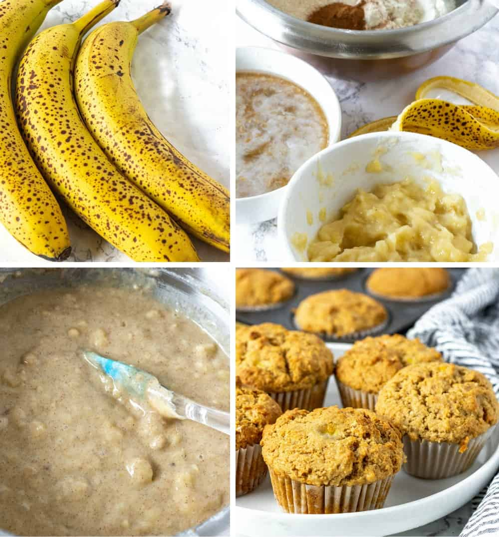 Vegan Banana Muffins Step By Step